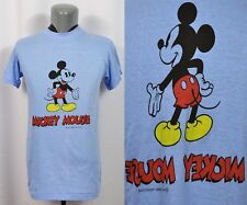 VTG 70's Tropix Togs Mickey Mouse Double Sided T-Shirt 50/50 Blend Thin Blue EUC