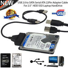 "HD HDD Hard Drive Adapter Converter Cable USB 2.0 to IDE SATA S-ATA 2.5"" 2017"