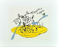 Andy Warhol Spaghetti is So Slippery c.1958 Poster Kunstdruck Bild 28x36cm