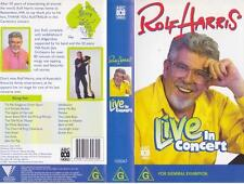 ROLF HARRIS LIVE IN CONCERT  VHS VIDEO PAL~ A RARE FIND