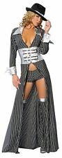 2PC Mafia Mama Costume M/L 10-12 UK Fancy Dress Hen Night Gangster Pimp