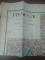 CARTA STRADALE DEL PIEMONTE - 1934 - De Agostini - Scala 1:200.000