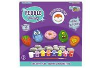 DIY Pebble Painting Craft Set Kids Childrens Art Toy Gift