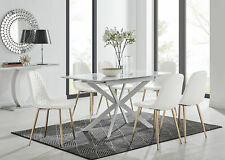 Lira 120 Modern Extending Dining Table and 6 Corona Chairs