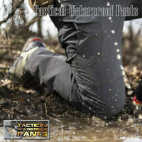 New Men Tactical Waterproof Work Cargo Long Pants with Pockets Loose Trousers US