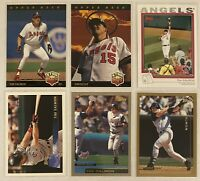 ⚾️Tim Salmon 6-CARD LOT including ROOKIE 1993 Upper Deck #25, Anaheim Angels