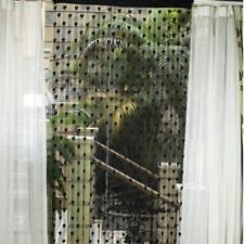 Rideau de Frange Chaîne Perle Suspendu Motif Coeur Noir Pr Fenêtre Porte