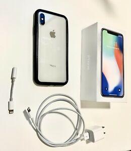 Apple iPhone X - 64GB - Silver (Unlocked) A1865 (CDMA + GSM) Read Description!