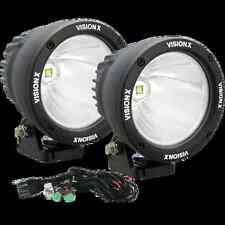 """Set of 2 Vision X 4.5"""" 25 Watt Driving LED Light Cannons w/ Dual Wiring Harness"""