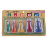 5Pcs/Set Size Fabric Bias Tape Maker Tools Handmade Craft Sewing DIY Acces~jp YK
