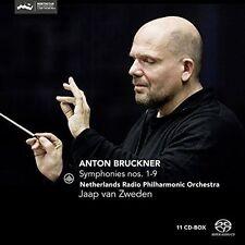Anton Bruckner Symphonies No 1 - 9 CD Jaap Van Zweden Netherlands Radio