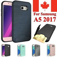 For Samsung Galaxy A5 2017 Case Shockproof KickStand Card Slot Wallet Hard Cover