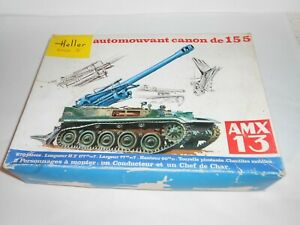 Heller Tank Canon. 1:35 scale. # L782 Plastic kit. NEW old stock. Boxed. France