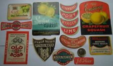 105 DIFFERENT ANTIQUE -OLD SOFT DRINK LABELS RARE & UNIQUE ? INCLUDED ONE OFF
