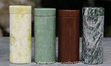 4PC China Natural Lantian Jade,Dark Jade,Gui zhou Cui,lv shan lv, Cup Teacup Pot