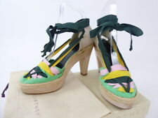 Stella McCartney Multicoloured Ribbon Anke Strap Heels  Size EU 38 UK 5 BNWB