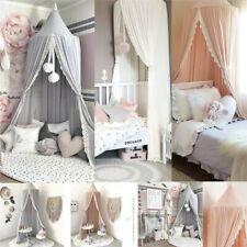 Kids Baby Bed Canopy Bedcover Mosquito Net Curtain Bedding Dome Tent Cotton new