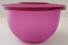 Tupperware Impressions Mixing Serving Bowl + Seal Radish Red 5.5 Cups New