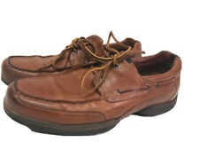 Sperry Leather 2 Eye Top-Siders Size 12M USA Vintage Brown Leather Lace-Up Shoes