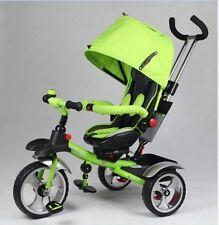 2019 3 Wheels Steele Tricycle Ride On Toddler Pram Stroller Jogger Car {Green}