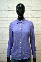 TOMMY HILFIGER Camicia in Cotone Blu Donna Taglia XS Shirt Woman Camicetta Slim