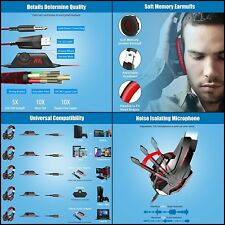 Stereo Gaming Headset for PS4,PC,Xbox 1 Controller,Noise Cancelling with Mic RED