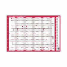 Sasco 2410106 2020 Compact Landscape Poster Style Year and A1 Wall Planner wi...