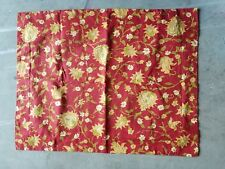 """Pottery Barn """"Palampore Floral - Red/Gold"""" Linen Standard Sham"""