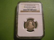 1972 Nicaragua 25 Cents NGC PF 66 Ultra Cameo