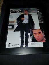 Enrique Iglesias Fonovisa Rare Original Promo Poster Ad Framed!