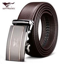 Luxury Mens Belt Real 100% Full Leather Genuin Septwolves Fine Christmas Present