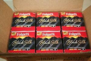 FOLGERS Black Silk Coffee 6 Boxes 12 = 72 K-Cup BB: 12/30/21 Dark Roast Pods