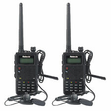 2X Walkie-Talkie Retevis RT5 Dual Band UHF+VHF 7W128CH 1750Hz Two Way FM Radio