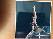 RARE VINTAGE ACROBATIC CIRCUS ACT: Miss Astrid Walking on Her Hands Color Photo