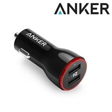 Anker PowerDrive 2 Car Charger Dual Port USB Travel Adapter for iPhone X Black