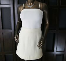 NWT J CREW (M) Womens Ivory Cream Wool Blend Above Knee Skirt 8 Lined