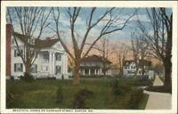 Easton MD Harrison St. Homes c1920 Postcard jrf