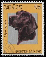"""LAOS 775 (Mi982) - Domestic Dog Breeds """"Labrador Retriever"""" (pf61921)"""
