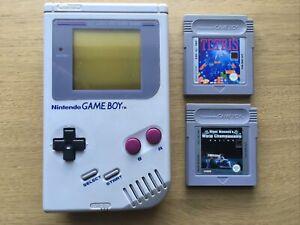 Original Nintendo Game Boy Console DMG-01 & 2 Games Tetris