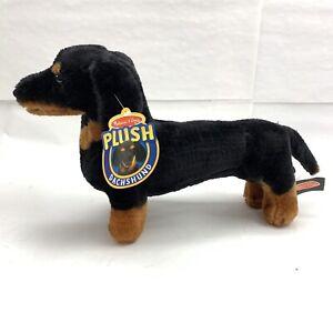 """New Melissa & Doug Stuffed Plush 20"""" Dachshund Dog Pup Stuffed Animal Ships Fast"""