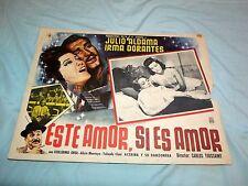 Este Amor, Si Es Amor Vintage Movie Window Card Julio Aldama & Irma Dorantes