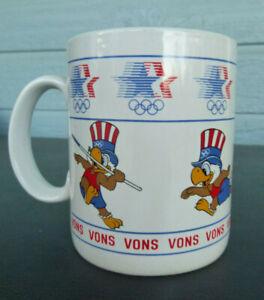vintage 1984 Los Angeles Olympic Coffee Mug Cup track  field  Sam the Eagle Vons