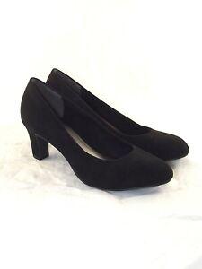 tamaris scarpe nero pelle scamosciata decollete taglia uk 3 eu 36