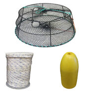 KUFA Sports Vinyl Coated Crab Ring Trap with Crabbing Accessory (CT79+FYM400)