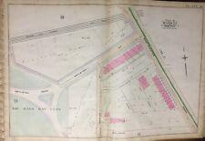 1888 BOSTON & ALBANY RAIL ROAD BACK BAY THE FENS MA. BERKLEE COLLEGE ATLAS MAP