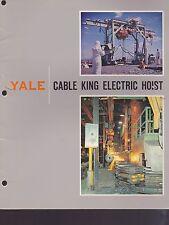 1963 VINTAGE CATALOG #2114 - YALE CABLE KING ELECTRIC HOIST