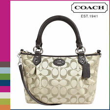 COACH Womens Tote F33416 khaki-Mahogany Colette signature mini fashion satchel