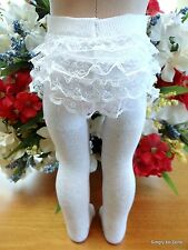 "WHITE RUMBA Doll TIGHTS STOCKINGS fits 15"" & 18"" AMERICAN GIRL Doll Clothes"