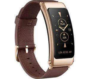 "Huawei TalkBand B6 Amoled 1.53"" Display Smart Band Fitness Tracker - Mocha Brown"
