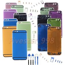 For iPhone 6 6P 6S 6SP Metal Back Door Battery Cover Rear Housing+LOGO+Tools